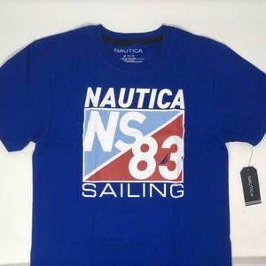 Nautica Big Boys' Short Sleeve Sailing Tee M 10/12